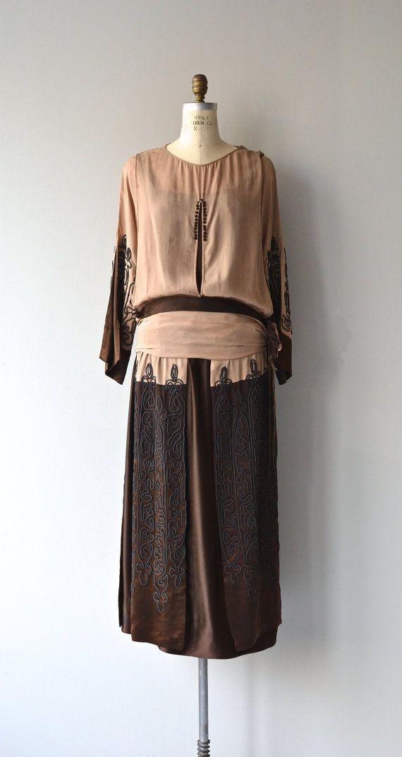 Arts Guild dress 1920s silk dress vintage 20s by DearGolden