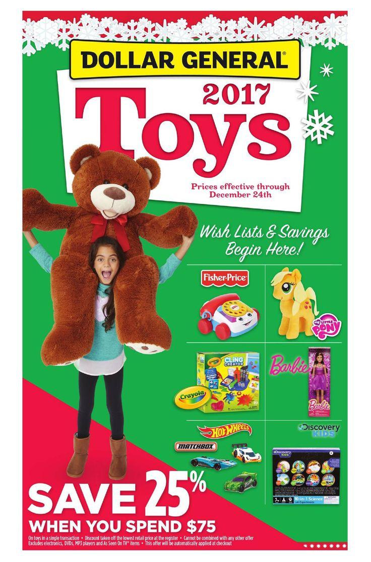 Dollar General Toys October 15 - December 24, 2017 - http://www.olcatalog.com/grocery/dollar-general-ad.html