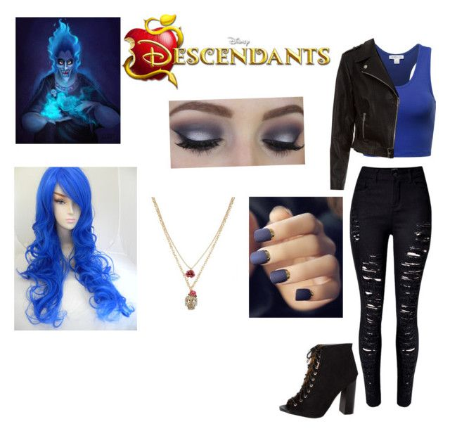 """""""Descendants Hades' daughter"""" by venessamyg ❤ liked on Polyvore featuring New Look, Betsey Johnson, disney, Descendants and summer2016"""
