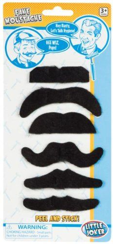 Toysmith Fake Moustaches, 2015 Amazon Top Rated Hair & Nails #Toy