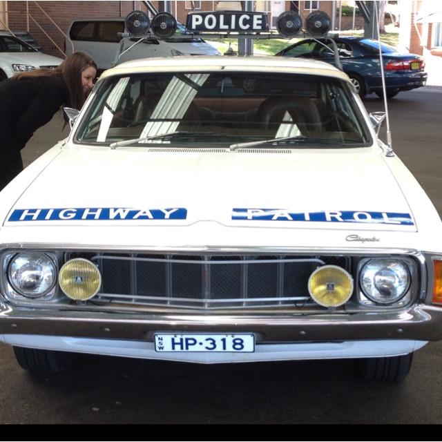 Old Police Highway Patrol Car