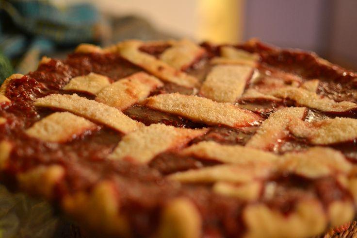 Saba's homemade/grown raspberry pie