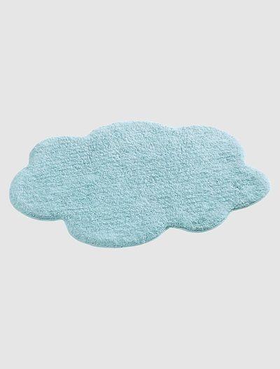 Tapis nuage bébé thème Miaous'tach BLEU+GRIS CLAIR - vertbaudet enfant