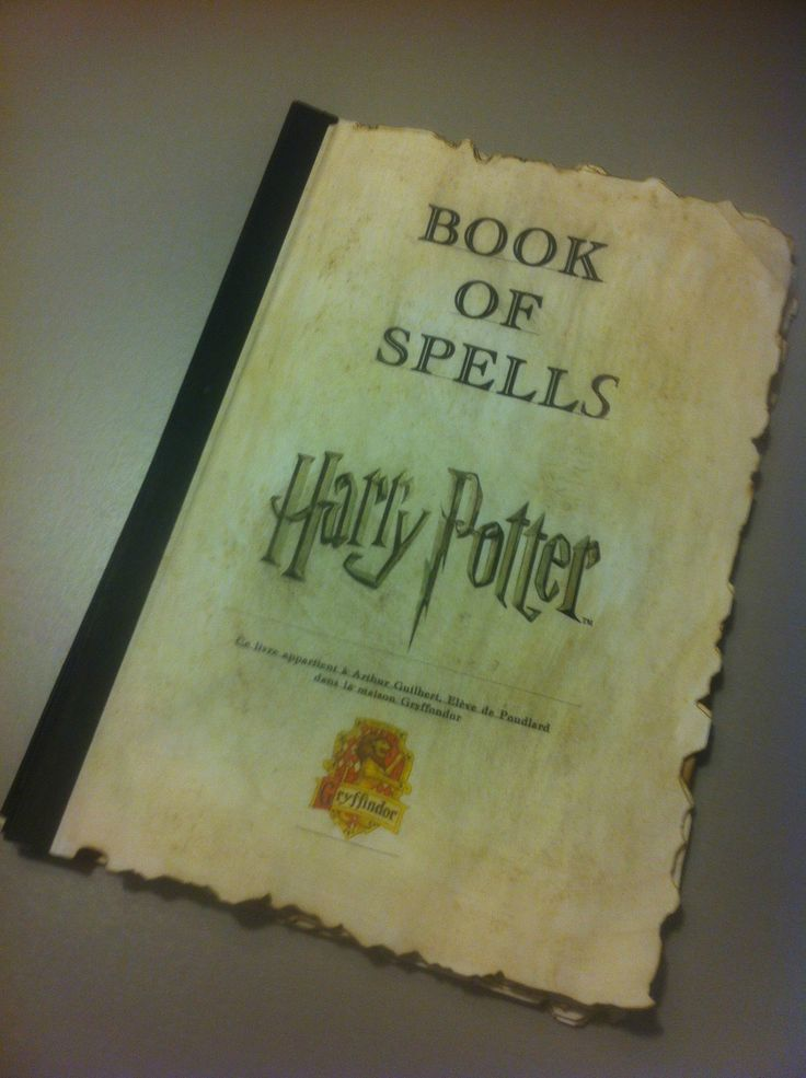 harry potter book of spells grimoire | Crafts ...