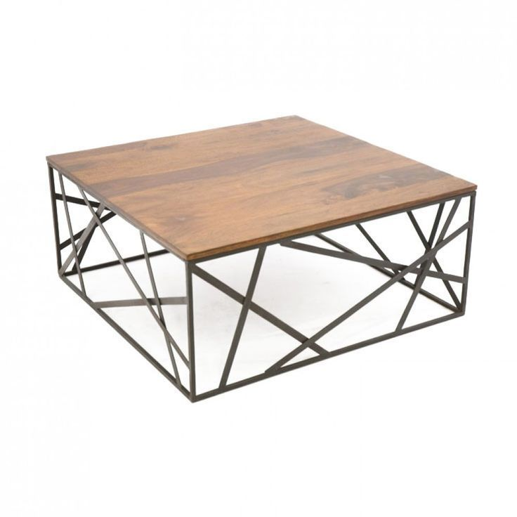 Etourdissant Table Basse Fer Forge Table Basse Bois Table Basse Bois Metal Table Basse Metal
