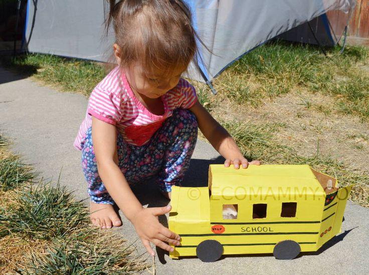школьный автобус из коробки своими руками