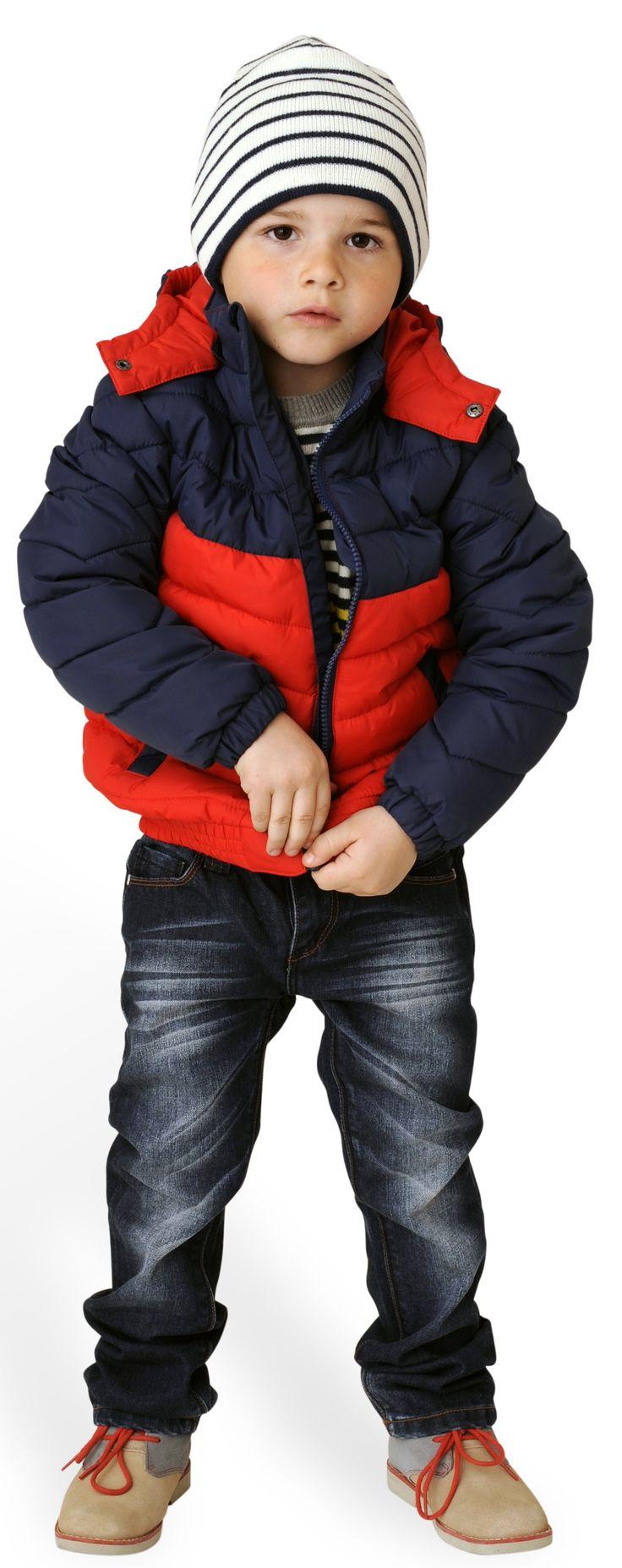 Rode/blauwe jas - Toobydoo