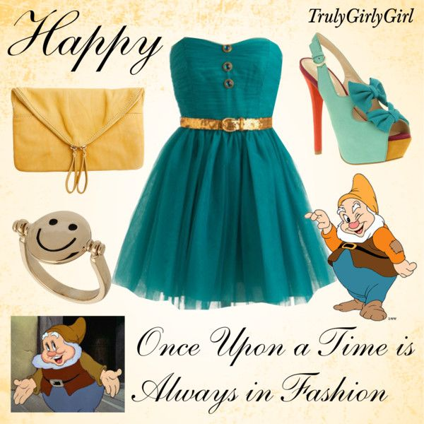 Disney Style: Happy, created by trulygirlygirl on Polyvore