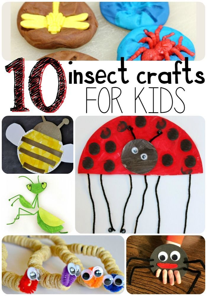 They're creepy, they're crawly. These 10 Insect Crafts for Kids will worm their way into your heart. Seriously, you'll be bugged by how much you love them. #Summer Activities, Kid Activities, Summer Kid Activities