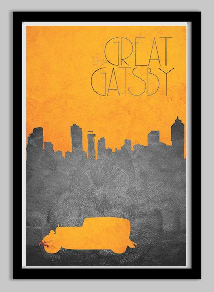 "Minimalist Movie Poster | 20 Swanky Pieces Of ""Great Gatsby"" Swag You Can Buy Online"