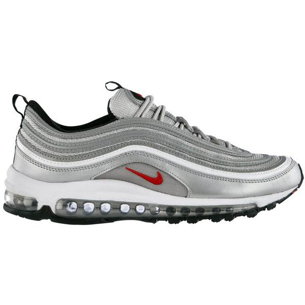 Nike Air Max 97 'Metallic Silver' Now Available ❤ liked on Polyvore featuring shoes
