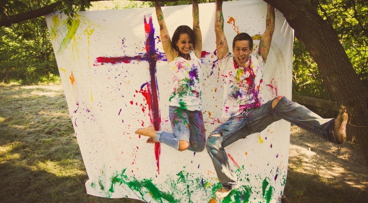 Engagement paint shoot!  http://11-eleven.ca (Dustin Newhook)