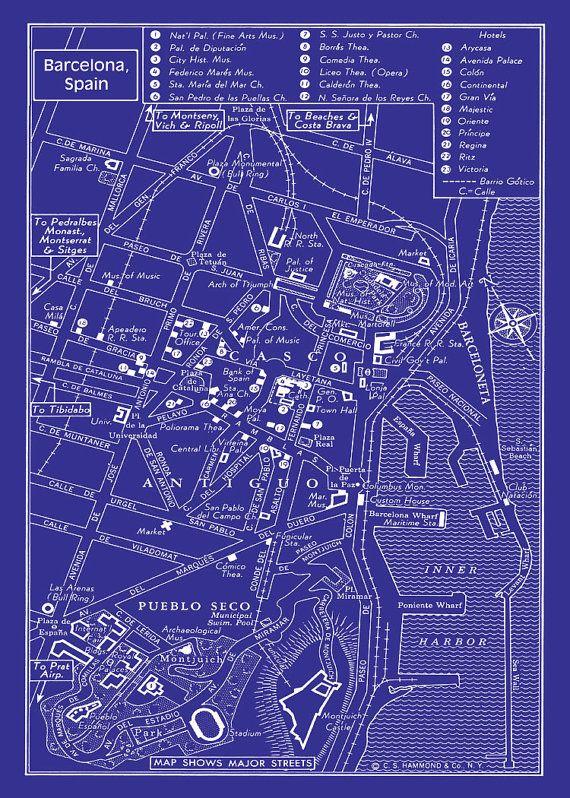 41 best grafikyojekty images on pinterest architecture dies ist der jahrgang 1947 karte der innenstadt von barcelona gefrbt um eine blaupause hneln malvernweather Choice Image