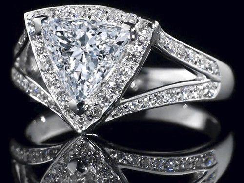 triangular cut wedding ring