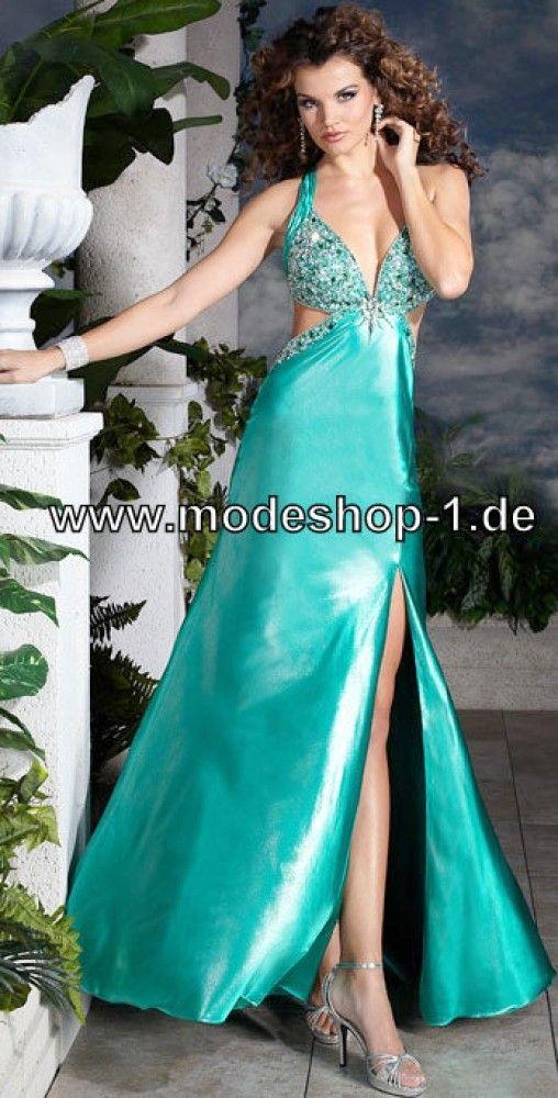 Sexy Abendkleid 2018 mit Pailetten in Grün Blau Lila