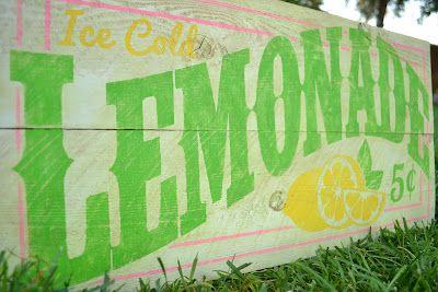 Burton Avenue: Old-Fashioned Lemonade Sign