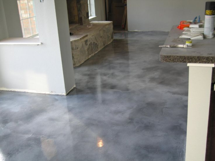 Gray Concrete Flooring : Acid stain concrete vivid decorative fort
