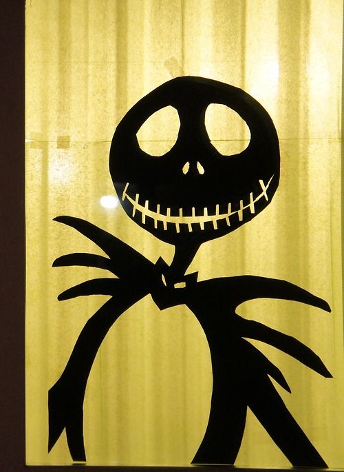 Here is another window decoration I made: Jack Skellington. Halloween!