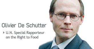 Publications d'Olivier De Schutter autour de l'Agroécologie et du Droit à l'alimentation