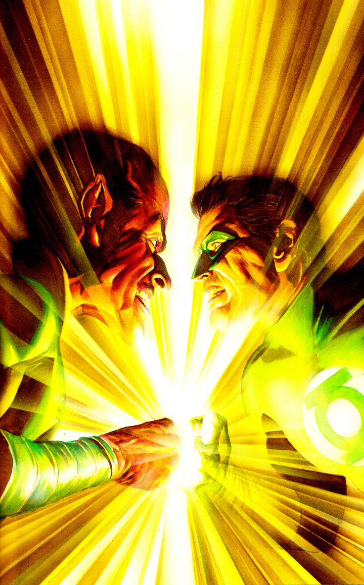 sinestro vs hal jordan by alex ross green lantern geek