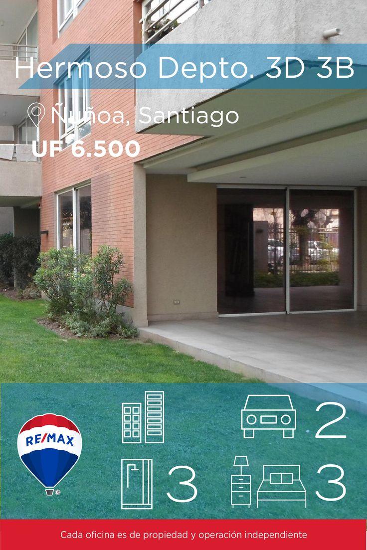 [#Departamento en #Venta] - #Hermoso Depto. 3D 3B  : 3 : 3  #propiedades #inmuebles #bienesraices #inmobiliaria #agenteinmobiliario #exclusividad #asesores #construcción #vivienda #realestate #invertir #REMAX #Broker #inversionistas #arquitectos #venta #arriendo #casa #departamento #oficina #chile