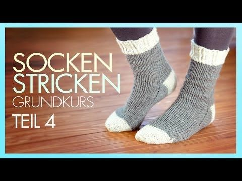 *Socken Stricken* Socke beenden *TEIL 4 GRUNDKURS* - YouTube