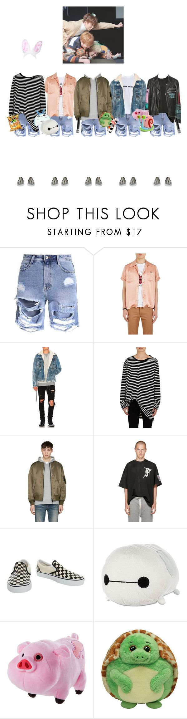 """""""X Weapon ✘ Fan signing at Incheon"""" by x-weapon ❤ liked on Polyvore featuring Visvim, AMIRI, Faith Connexion, Yves Salomon, Fear of God, Vans, INC International Concepts, Disney, Panda and men's fashion"""
