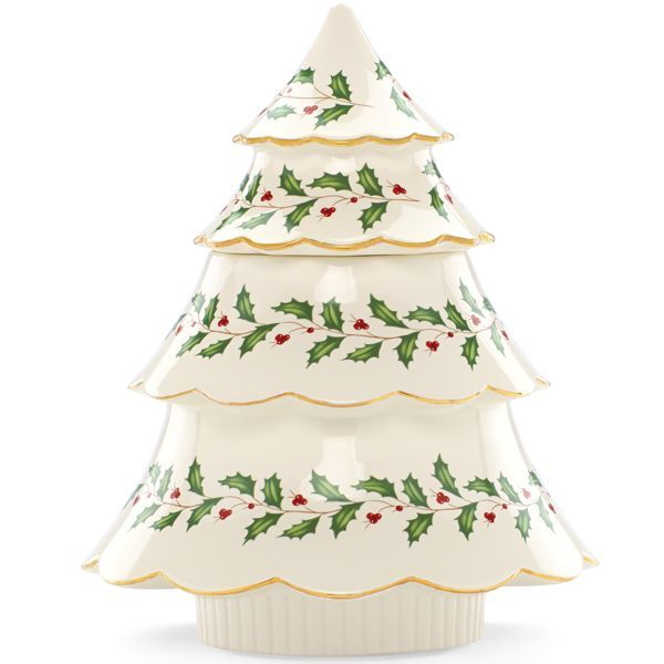 Lenox Christmas Tree Toppers Part - 49: Holiday® Archive Tree Cookie Jar By Lenox