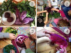 La ricetta per fare i colori naturali. La Yurta nel Bosco