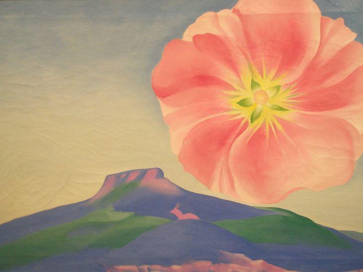 Georgia O'Keeffe 'Hollyhock Pink with Pedernal', 1937, Milwaukee Museum of Art, Milwaukee, Wisconsin | by hanneorla