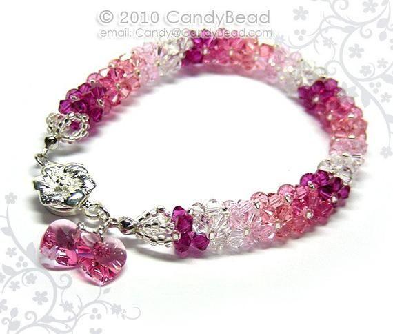 Crystal bracelet; Swarovski bracelet; Glass bracelet;Luxurious ...
