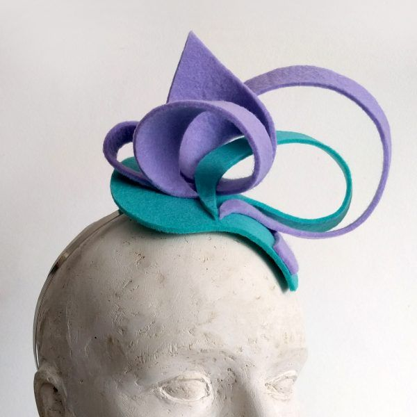 IRIS Fascinator hat made by Eventivity Accessorize