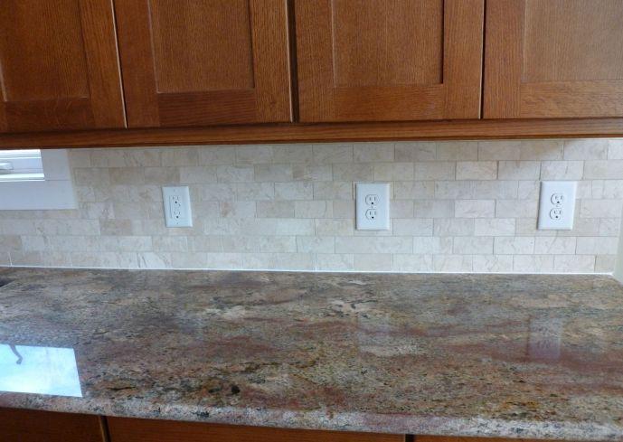 Tumbled Marble Subway Tile Backsplash Household And