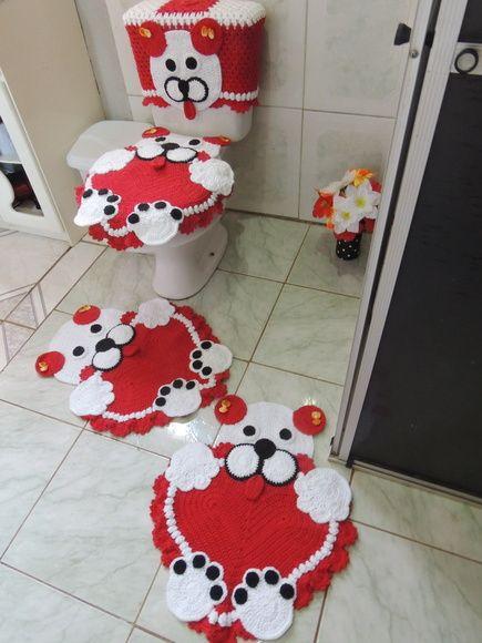 Jogo banheiro Bichinho em Croche