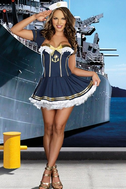 NAVY GOLD ROCKIN THE BOAT COSTUME,sexy sailor costume, sailor costumes, mens sailor costume, sailor girl costumes, sailor mars costume,sailor costumes, sailor mars costume, womens sailor costume, sailor costumes for women, sailor jupiter costume,sexy sail sexy costume -  #sailor costume