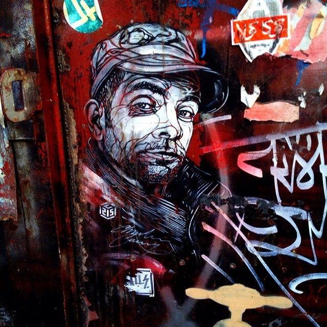 Man in a cap #C251, Commercial Road #streetart #graffiti #graffitiporn #urbanwalls #urbanart #wall #wallart #shoreditch