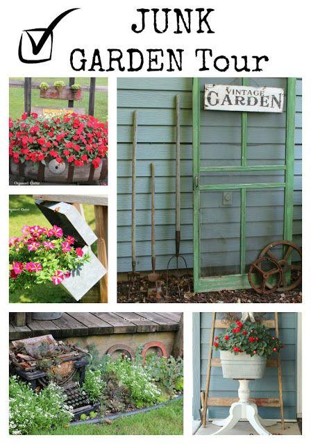 the organized clutter 2015 junk garden tour via organizedclutternet - Rustic Garden 2015