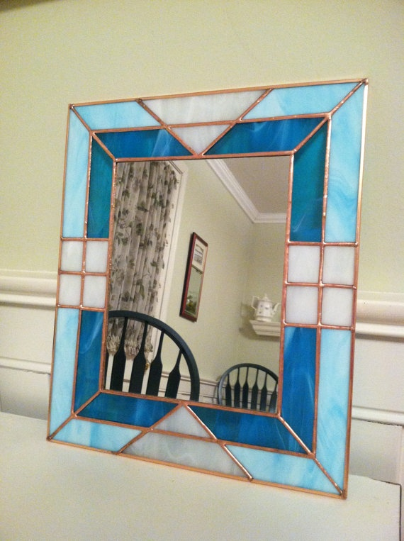 Stained Glass Mirror by AmyZalinskyDesigns on Etsy, $75.00