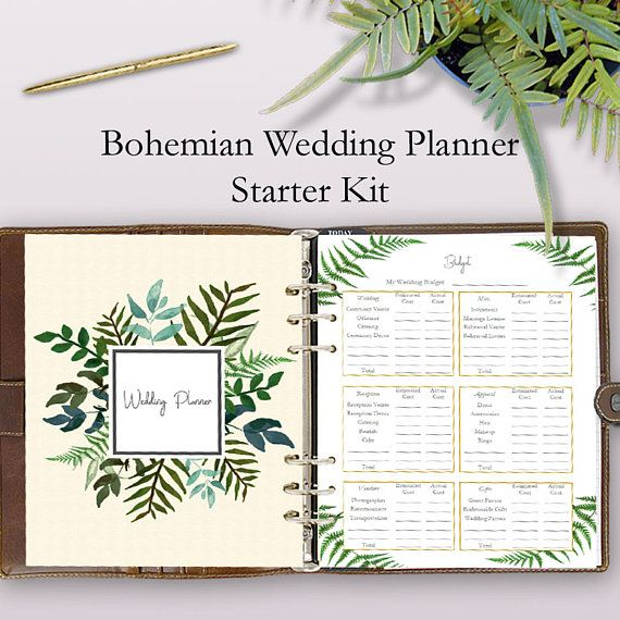 The Best Wedding Planning Binder Printables Starter Kit For A Bohemian These Planner Are Great To Add