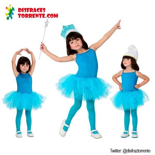 Disfraces de bailarina de ballet o danza en color Azul. Añádele un gorro y conviertelo en un disfraz de pitufo. O con una simple corona y un...