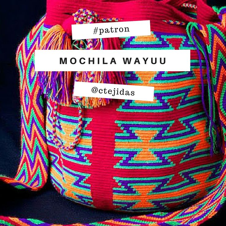 Patrón para realizar figura de mochila wayúu por sólo $1.00 USD -> http://www.ravelry.com/patterns/library/mochila-wayuu-reloj-de-arena