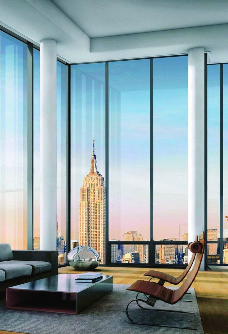 Project all white studio apartment perianth interior design new - Picture From One Madison Park Building In New York