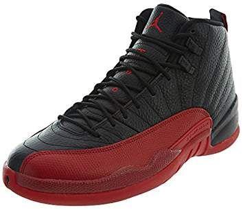 reputable site 8af75 da0f3 NIKE Air Jordan 12 Retro Flu Game Black Varsity Red Trainer
