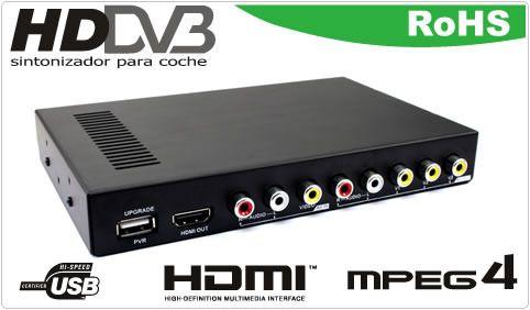 Buenos días amig@s!!#Felizjueves Hoy queremos destacar nuestro Sintonizador Digital TDT Coche MPEG4 HDMI USB con 3 Salidas Vídeo. Además incluye 2 antenas TDT con alimentación independiente