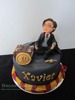 Doces Opções: Bolo de aniversário com o Harry Potter