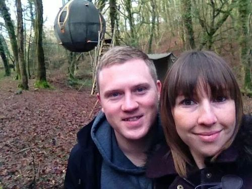 We hear congratulations are in order. Two of our guests got engaged in January in our Lost Meadow Tree Tent!