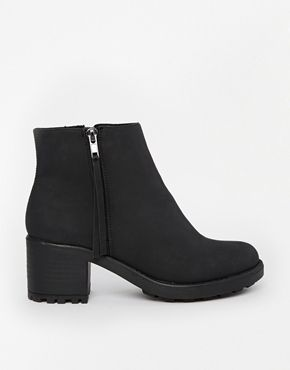 Enlarge River Island Zip Black Ankle Boots