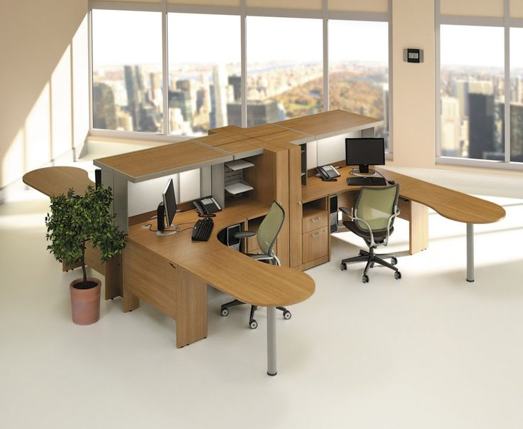Office Cubicle Design Ideas find this pin and more on home decor simple cubicle decor with design ideas Smart And Exciting Office Cubicles Design Ideas For Your Inspiration Cozy Wooden L Shape Cubicle Workstation Desk With Modern Cabinet And
