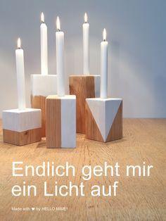 Kerzenständer Holz DIY