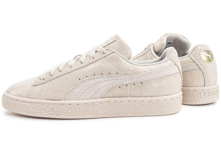 puma suede white beige